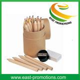 24 карандаша цвета чертежа высоких ранга цвета деревянных
