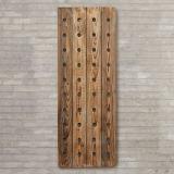 Estante de madera montado en la pared del vino para Deco casero