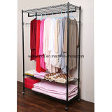 DIY 3 Tier Black Closet Garment Rack com rodas
