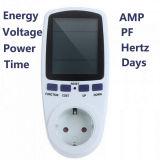 Power Meter Plug Socket Energy Watt Voltage Medidor AMPS com uso de eletricidade