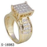 Commercio all'ingrosso della fabbrica dell'argento 925 dell'anello dei monili di Hip Hop