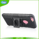 Caso híbrido de Kickstand del teléfono móvil del clip de la correa de la venta del mercado norteamericano del teléfono móvil de la PC caliente de los bolsos y de las cajas TPU para la contraportada del caso 6s del iPhone 6