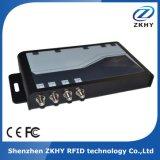 UHF RFID Lector fijo de 4 canales con tarjeta inteligente de alto rendimiento