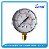 Ss Mechanische Manometer van de Maat van de Aansluting van de Druk de maat-Onderste