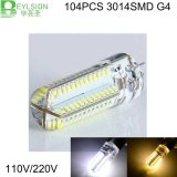 4W G4 3014 104SMD LED lâmpada LED