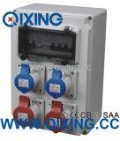 ソケットIP44 415V 32A 3pinとのプラスチック電子機構