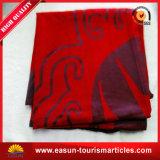 珊瑚のホテルおよび航空会社のための羊毛の平野によって染められる毛布