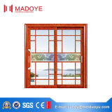 Portello scorrevole di vetro di disegno della griglia con il reticolo di stile cinese