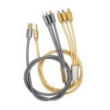 3-in-1 De Kabel van de Lader van usb- Gegevens met de Schakelaar van de Bliksem/van het Type C/Micro