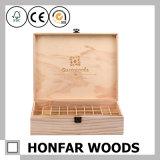 Rectángulo de almacenaje de madera de madera del rectángulo de petróleo esencial de la talla grande