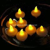 El agua que flota la boda sin llama LED mira al trasluz la vela de Tealight perfecta para la decoración casera