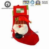 刺繍のロゴの2016高品質のソックス袋のFlanneletteのクリスマス袋