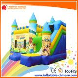 Castillo de salto inflable del coco amarillo combinado para el parque de atracciones (T3-111)