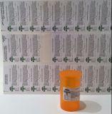 Etiquetas engomadas médicas usadas marijuana legal de la tensión de la escritura de la etiqueta de Rx