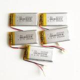 bateria recarregável do íon de Lipo Li do polímero do lítio de 3.7V 300mAh 402040 para a peça eletrônica móvel do MP3 MP4 MP5