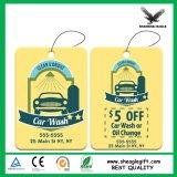 Documento di carta d'attaccatura promozionale personalizzato della bevanda rinfrescante di aria dell'automobile