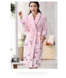 Flanela relativa à promoção das mulheres/velo/Bathrobe/pijama/Nightwear corais de veludo