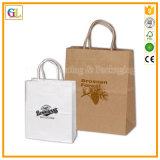 Bolsa de papel famosa de la marca de fábrica de la impresión y bolso de compras con la impresión de encargo