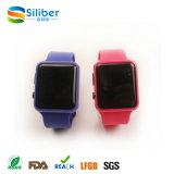 Il braccialetto LED del silicone della vigilanza della gelatina di Digitahi mette in mostra l'orologio