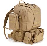 Nylon sólido Wearproof deporte al aire libre Camping escalada Senderismo Trekking combinado Molle táctico militar de bolsas de viaje Bolso Mochila Yf-Cmb1604