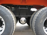 40feet 2axle Blockwagen-Flachbett-halb Schlussteil