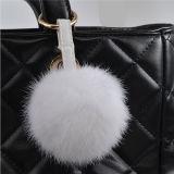 Sfera della pelliccia del coniglio per la catena chiave della sfera della pelliccia della pelliccia POM Poms Keychain delle catene chiave