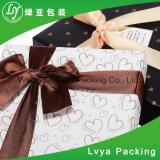 Коробка изготовленный на заказ подарка ювелирных изделий закрытия тесемки логоса упаковывая бумажная