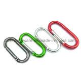Alliage aluminium ovale mousqueton avec clip