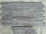 Ardesia naturale grigia scura della pietra della coltura per il rivestimento della parete