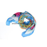 Poliéster impreso teñido de bufanda (AJM60001235)