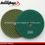 Tampone a cuscinetti per lucidare del diamante del granito della smerigliatrice di angolo di colore verde