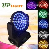 36PCS 18W RGBWA UV 6in1 LED 세척 급상승 이동하는 맨 위 빛