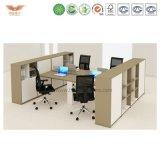 Büro-Schreibtisch-Zelle für 4 Personen-Büro-Partition L Form-Arbeitsplatz
