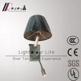 Modernes schwarzes Kopfende-Anzeigen-Wand-Licht des Gewebe-LED