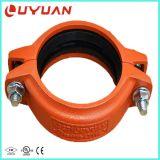 Acoplamiento de ranurado de fundición y el tubo adaptador (listado UL, FM aprobado).