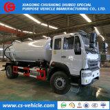 下水道のクリーニングのためのHOWO 4X2の吸引の下水の真空タンクトラック
