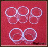 El vidrio de cuarzo transparente tamaño pequeño de pulido suena el borde