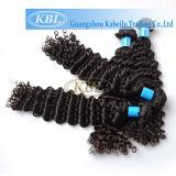 黒髪のブラジルの巻き毛の人間の毛髪の拡張