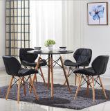 Прочного Домашняя мебель белого пластика, обеденным столом с металлической опоры