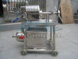 La plaque hydraulique automatique et le châssis du filtre à huile de noix de coco