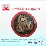 Alto Temperaure cable de la baja tensión del caucho de silicón del alambre de UL3239