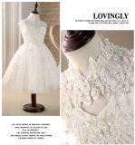 Adorável Garota de marfim Lace vestido para casamento