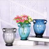 Florero de cristal del buen arte de cristal de la decoración/florero en la aplicación casera
