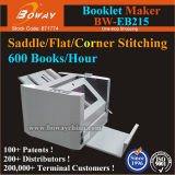 Fabricante grampeando do livreto da pasta do grampeador do rebitador de canto lateral liso da sela de 600 Books/H