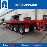 Véhicule de titan - remorque à plat de camion de 40 pi avec des pattes de support de Jost de 20 tonnes