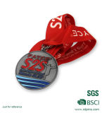 Vierkant Gevormde Zilveren medailles voor de Vergadering van de Sport