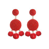Accesorios de moda Hand-Woven Aretes joyas con cordón