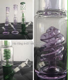 Hb-K41 Oil Rig Verre Water Pipe Grace Glass avec Spiral Perc Glass Smoking Pipe 2 Tailles