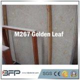 Golden Leaf marbre naturel en matériau de construction pour mur/décoration de plancher