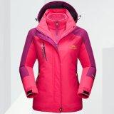 防水ウインドブレイカーの男女兼用の完全なジッパーの冬の屋外スポーツのSnowboadのジャケット
